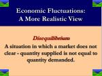 economic fluctuations a more realistic view9