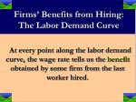 firms benefits from hiring the labor demand curve