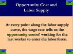 opportunity cost and labor supply
