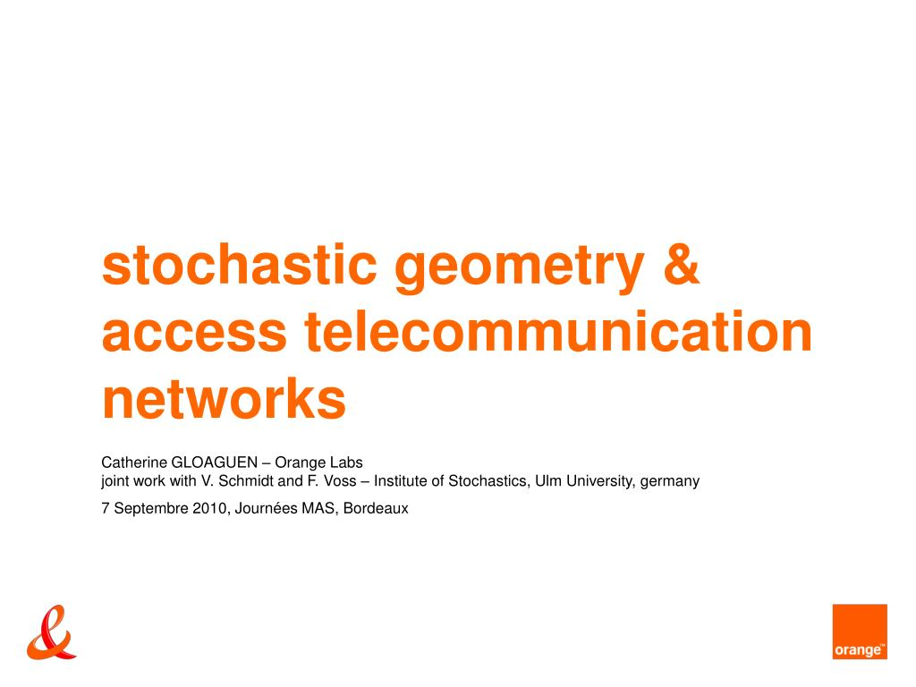 stochastic geometry access telecommunication networks l.