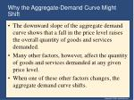 why the aggregate demand curve might shift
