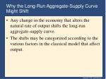 why the long run aggregate supply curve might shift