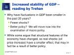 increased stability of gdp reading by trehan