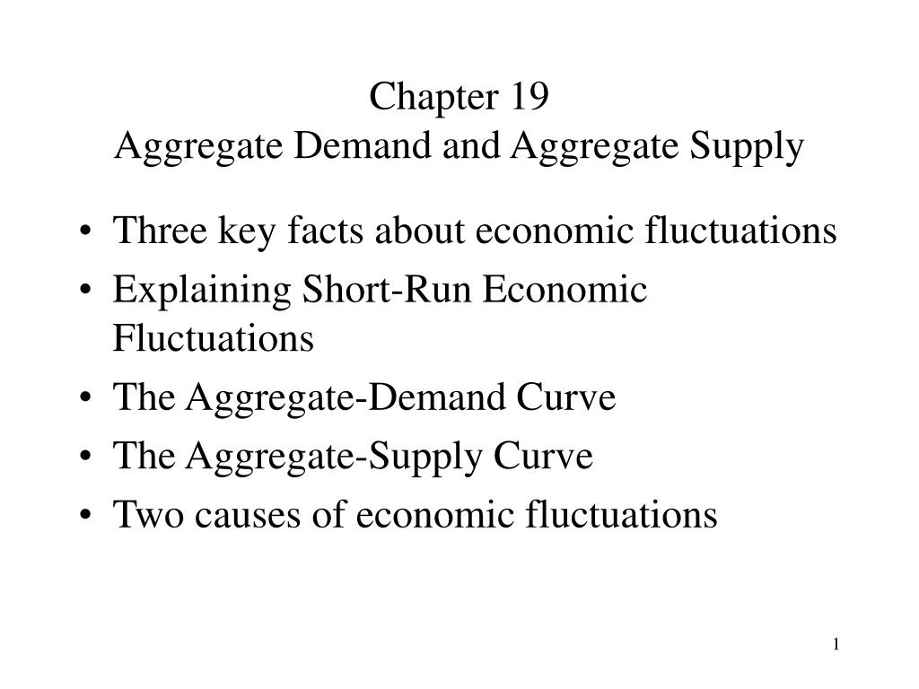 chapter 19 aggregate demand and aggregate supply l.