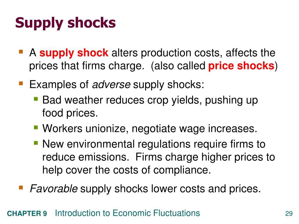 Supply shocks