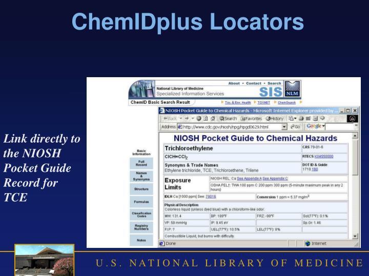 ChemIDplus Locators