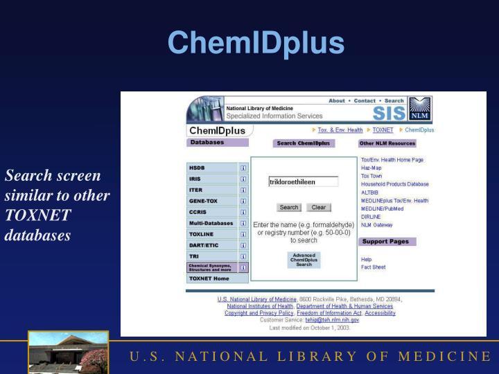 ChemIDplus