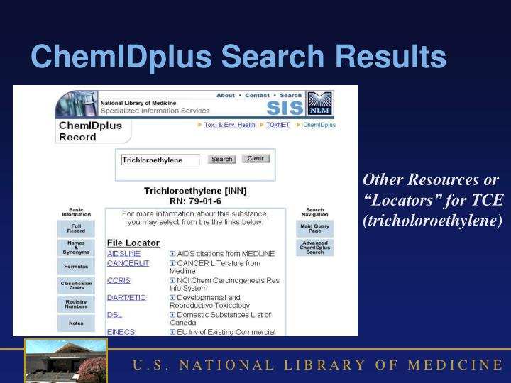 ChemIDplus Search Results