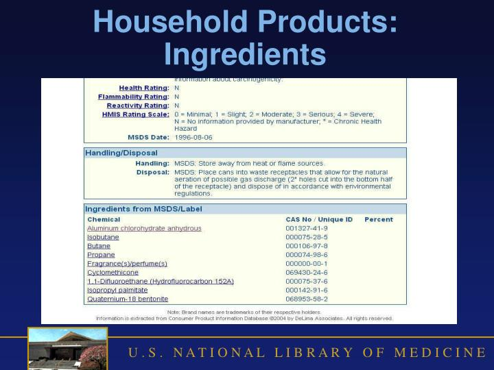 Household Products: