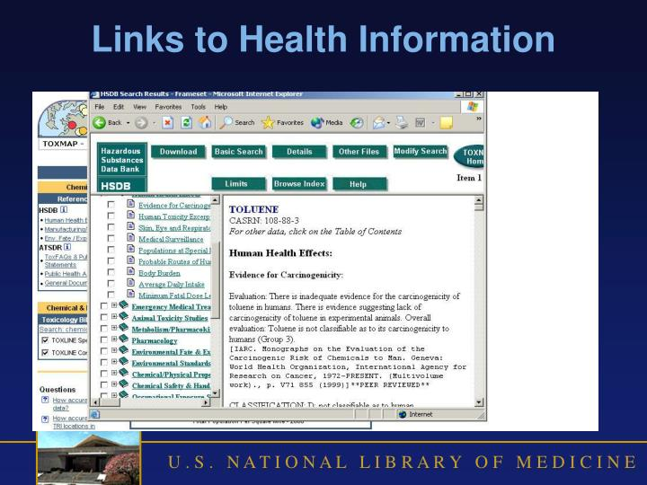 Links to Health Information