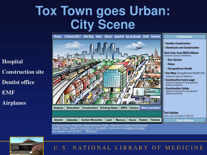 Tox Town goes Urban: