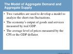the model of aggregate demand and aggregate supply