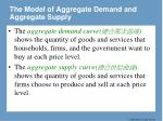 the model of aggregate demand and aggregate supply21