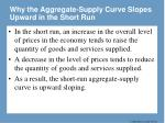 why the aggregate supply curve slopes upward in the short run
