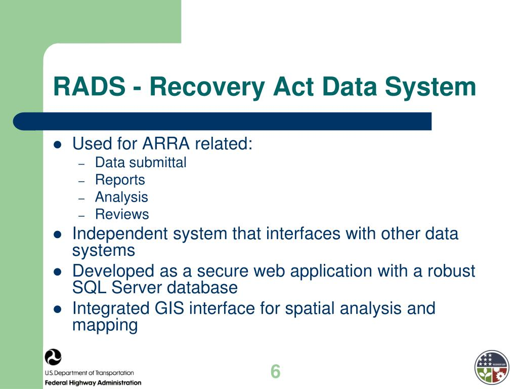 RADS - Recovery Act Data System
