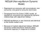 nedym non equilibrium dynamic model