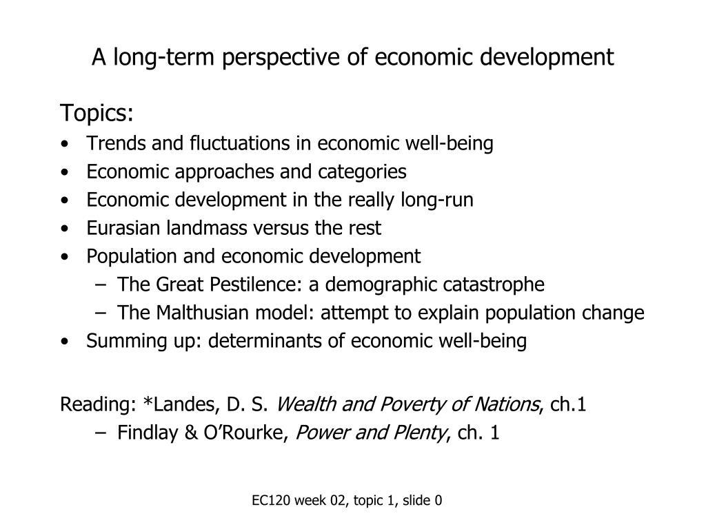 a long term perspective of economic development l.