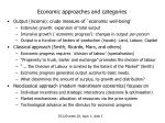 economic approaches and categories