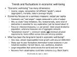 trends and fluctuations in economic well being