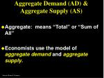aggregate demand ad aggregate supply as