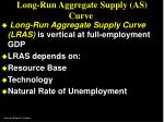 long run aggregate supply as curve