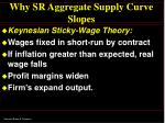 why sr aggregate supply curve slopes