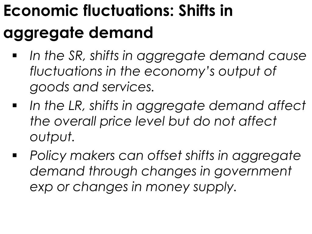 Economic fluctuations: Shifts in aggregate demand
