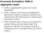 economic fluctuations shifts in aggregate supply