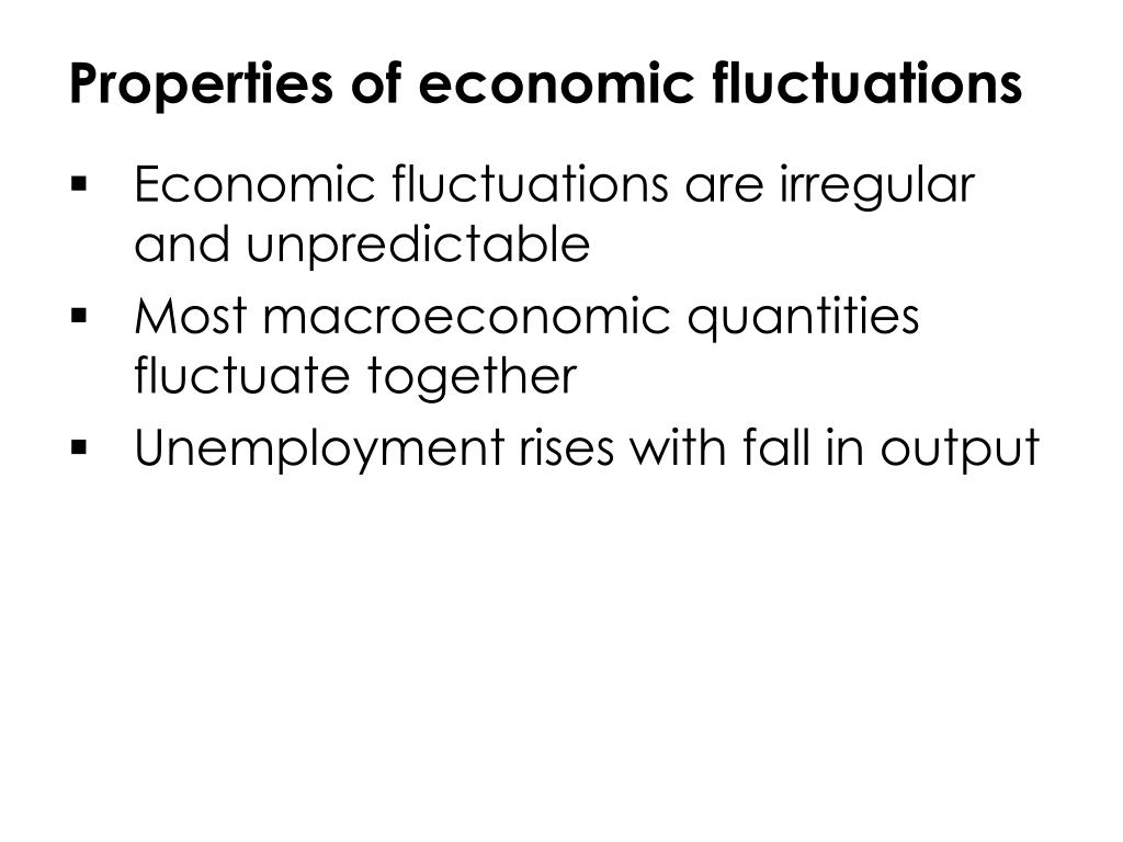 Properties of economic fluctuations