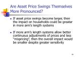 are asset price swings themselves more pronounced