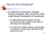 how do firms respond