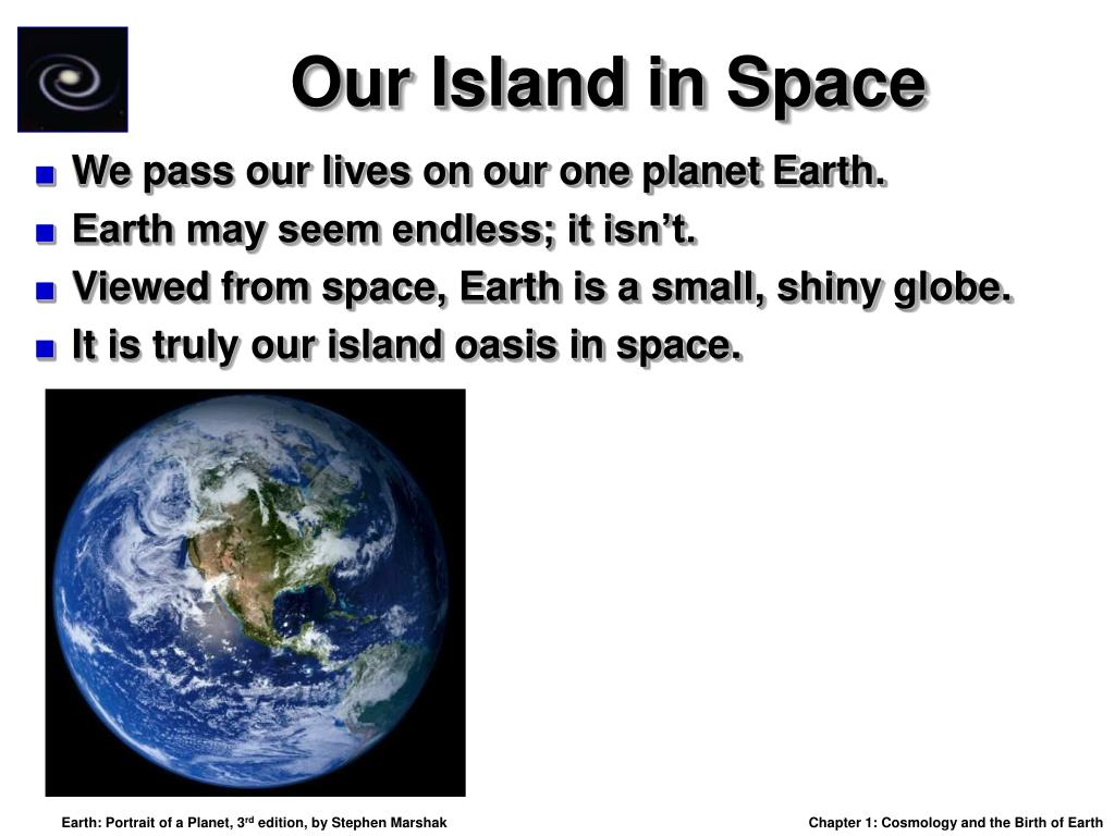 Our Island in Space