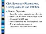 ch9 economic fluctuations unemployment and inflation