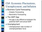 ch9 economic fluctuations unemployment and inflation13