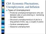 ch9 economic fluctuations unemployment and inflation14