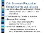 ch9 economic fluctuations unemployment and inflation19