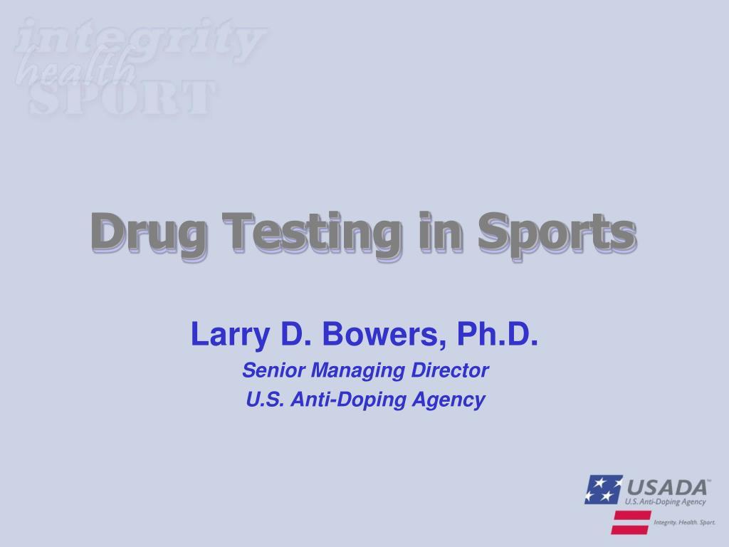 drug testing in sports l.