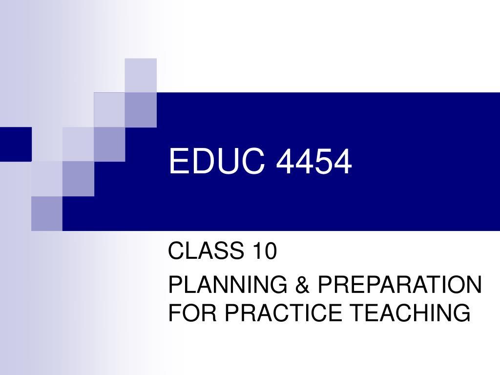 educ 4454 l.