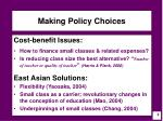 making policy choices
