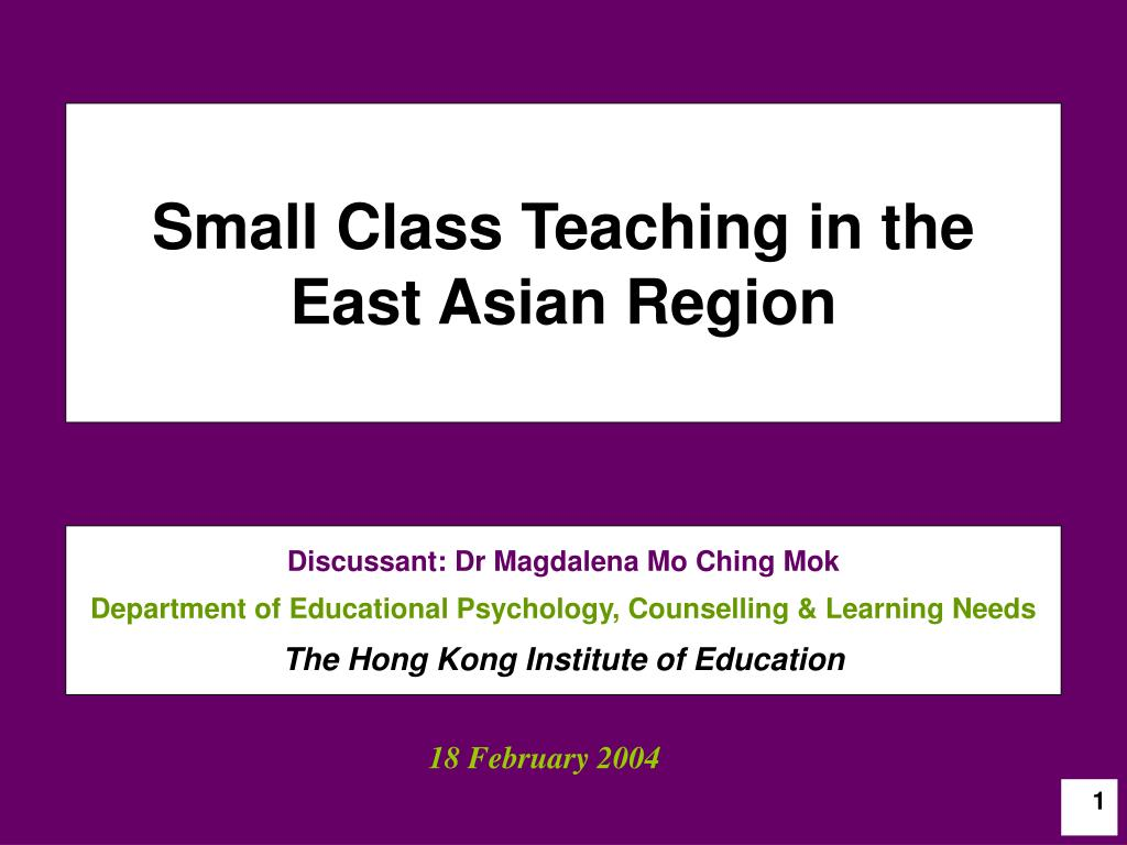 small class teaching in the east asian region l.