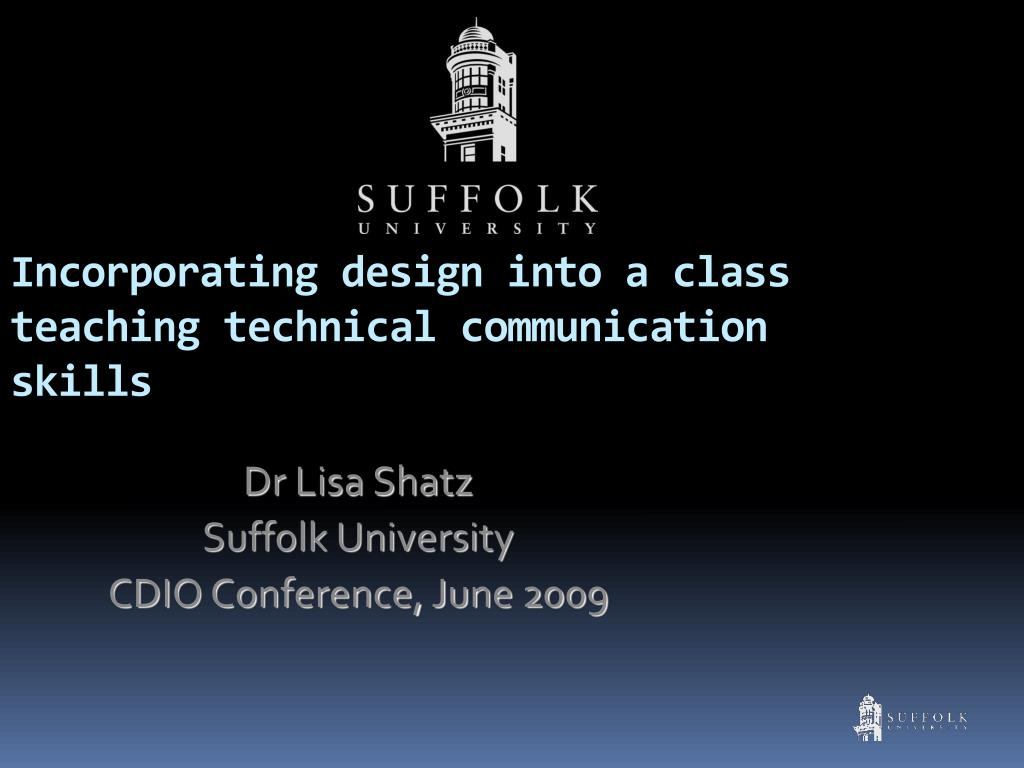 incorporating design into a class teaching technical communication skills l.