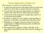 some indicators of success