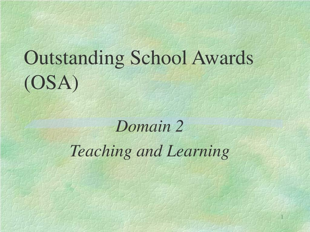 outstanding school awards osa l.