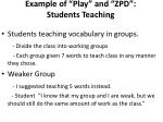 example of play and zpd students teaching