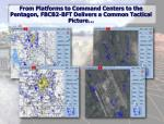 from platforms to command centers to the pentagon fbcb2 bft delivers a common tactical picture