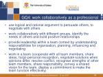gq4 work collaboratively as a professional