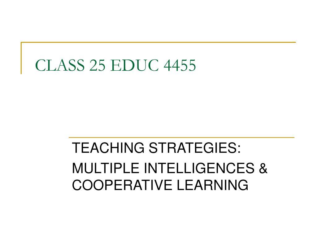 class 25 educ 4455 l.