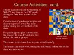 course activities cont