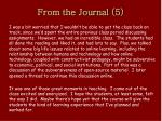 from the journal 5