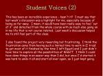 student voices 2